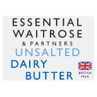 essential Waitrose unsalted dairy butter - 250g