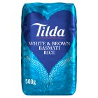 Tilda white & wholegrain basmati rice - 500g