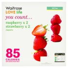 Waitrose LOVE life you count  4 strawberry / raspberry yogurts - 4x125g