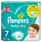 Pampers Baby Dry - 17+ kg Size 7