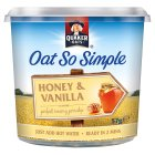 Quaker Oats So Simple honey & vanilla porridge cereal pot - 57g Brand Price Match - Checked Tesco.com 01/07/2015