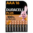 Duracell Plus AAA - 16s Brand Price Match - Checked Tesco.com 16/04/2014
