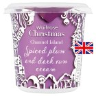 Waitrose spiced plum & dark rum Channel Island cream - 250ml