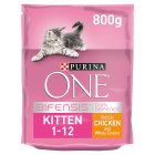 Purina ONE Kitten Rich in chicken & whole grains dry food - 800g