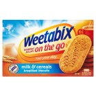 Weetabix on the go breakfast biscuits milk & cereals - 5x50g Brand Price Match - Checked Tesco.com 27/08/2014