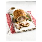 Easy Carve turkey and duck two bird roast with sticky pork, prune and plum stuffing -
