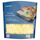 Waitrose extra mild grated mozzarella cheese, strength 1 - 500g