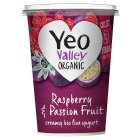 Yeo Valley raspberry & passion fruit bio yeogurt - 450g Brand Price Match - Checked Tesco.com 05/03/2014
