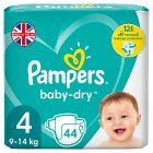 Pampers Baby Dry 4 Essential 45 Nappies - 45s