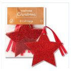Waitrose Red Star Glitter Gift Tags - 8s