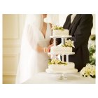 Ivory Lily & Rose Sugar Flower Wedding Cake - Vanilla - 3 Tier -