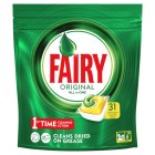 Fairy All In One Lemon Dishwasher Tablets 34 pack - 553g