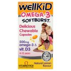 Wellkid lemon omega-3 softburst - 60s