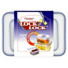 Lock & Lock food container set, set of 3 - each
