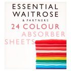 essential Waitrose colour absorber sheets - 24s