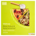 Waitrose hand stretched, thin & crispy four seasons pizza - 440g