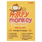 Happy Monkey orange & mango smoothies