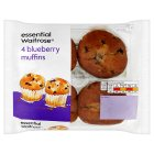 essential Waitrose blueberry muffins - 4s
