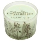 Waitrose FG lily of valley 3 wick candle - each