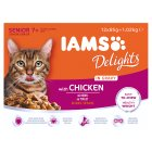 IAMS Senior Delights with Chicken in Gravy - 12x85g