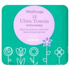 Waitrose Ultra Towels with Wings Super - 12s