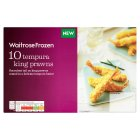 Waitrose Frozen 10 Tempura King Prawns - 120g