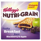 Kellogg's Nutri Grain 6 Blackberry & Apple Bars - 6x37g