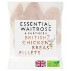essential Waitrose Frozen British chicken breast fillets - 1.25kg