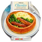 Waitrose Yorkshire with sausage and mash