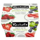 Rachel's organic low fat bio-live garden fruits yogurts - 4x120g Brand Price Match - Checked Tesco.com 02/12/2013