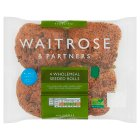 Waitrose LoveLife 4 wholemeal seeded rolls - 4s