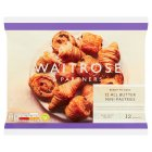 Waitrose mini French butter pastries 12s - 340g