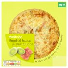 Waitrose Smoked Bacon & Leek Quiche - 400g