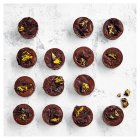 Heston from Waitrose chocolate and passion fruit mini popping candy tarts - 16x18g