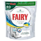 Fairy platinum all in one lemon dishwashing tablets - 40 tablets