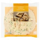 Waitrose Parmesan & Garlic Rustic Wheel - 295g
