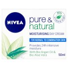 Nivea pure & natural day cream - 50ml