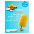 Waitrose pineapple & coconut colada lollies - 4x73ml
