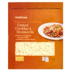 Waitrose grated mild Cheddar & Mozzarella cheese, strength 2 - 250g
