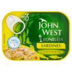 John West boneless sardines in sunflower oil - drained 67g Brand Price Match - Checked Tesco.com 01/07/2015