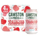 Cawston Press Rhubarb with Sparkling Water - 4x330ml