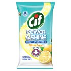 Cif Power & Shine Citrus Fresh Wipes - 30s