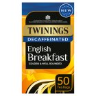 Twinings 50 decaffeinated English breakfast - 125g Brand Price Match - Checked Tesco.com 23/07/2014
