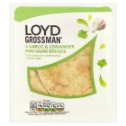 Loyd Grossman garlic mini naans - 4s