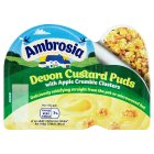 Ambrosia Devon custard puds with apple crumble - 117g