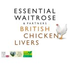 essential Waitrose Frozen British chicken livers - 250g