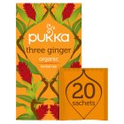 Pukka three ginger 20 sachets - 36g