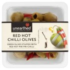 Unearthed red hot chilli olives - 157g