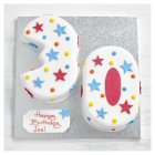 30th Birthday stars and dots cake - each