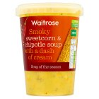 Waitrose sweetcorn & chipotle soup - 600g